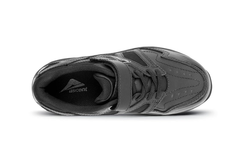 Ascent - Sustain Jr - Lim's School Shoes -Boys and girls school shoes .Available in black and white. Leather and sport