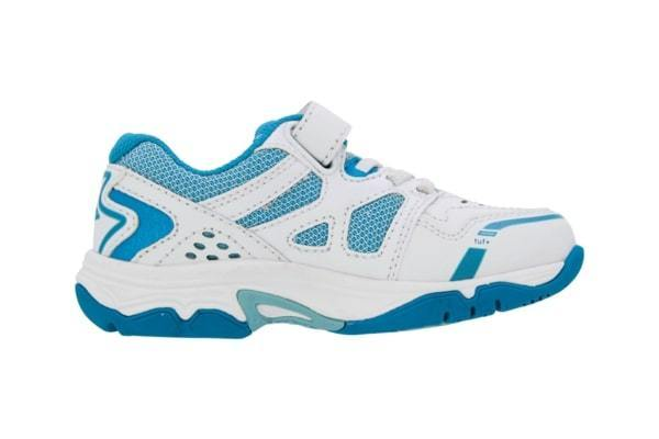 Ascent - Sustain Jr (White/Teal) - Lim's School Shoes -Boys and girls school shoes .Available in black and white. Leather and sport