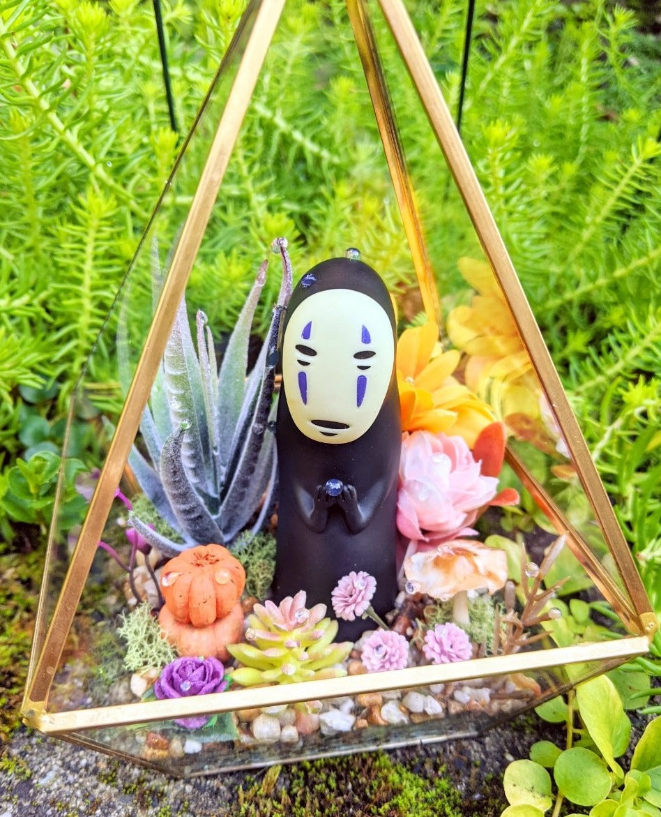 10/17 No Face Glass Terrarium