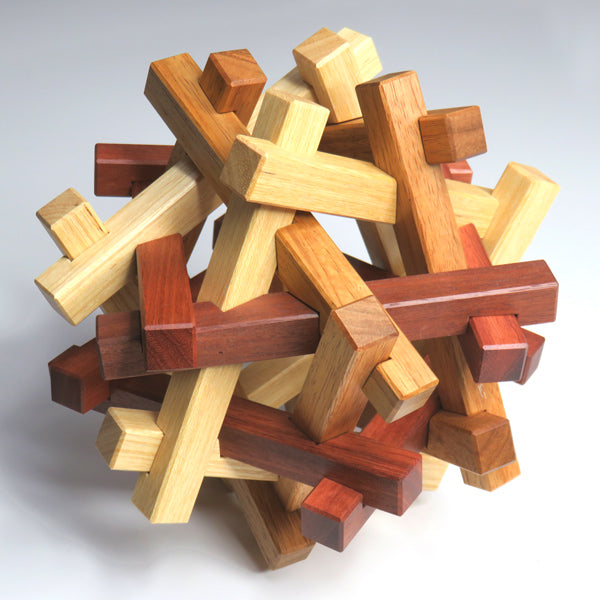 Mirii 6x4 - Polyhedral shape interlocking burr puzzle