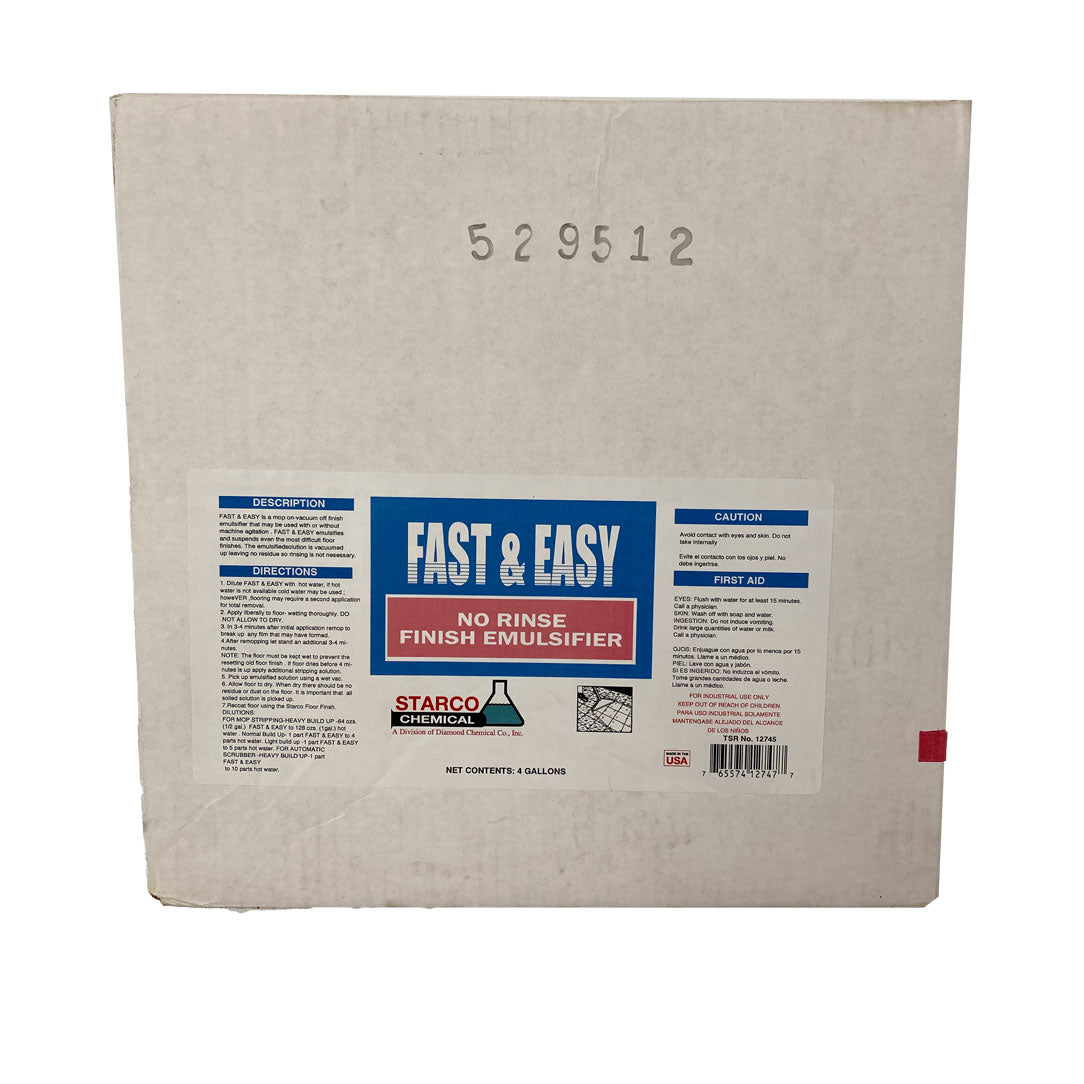 Fast & Easy No Rinse Floor Stripper - 4 gal/Case