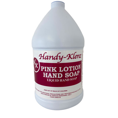 Handy-Klenz Pink Lotion Hand Soap - 4/Case