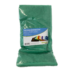 Smart Choice Microfiber Cloths - 16x16 Green 12/Pack