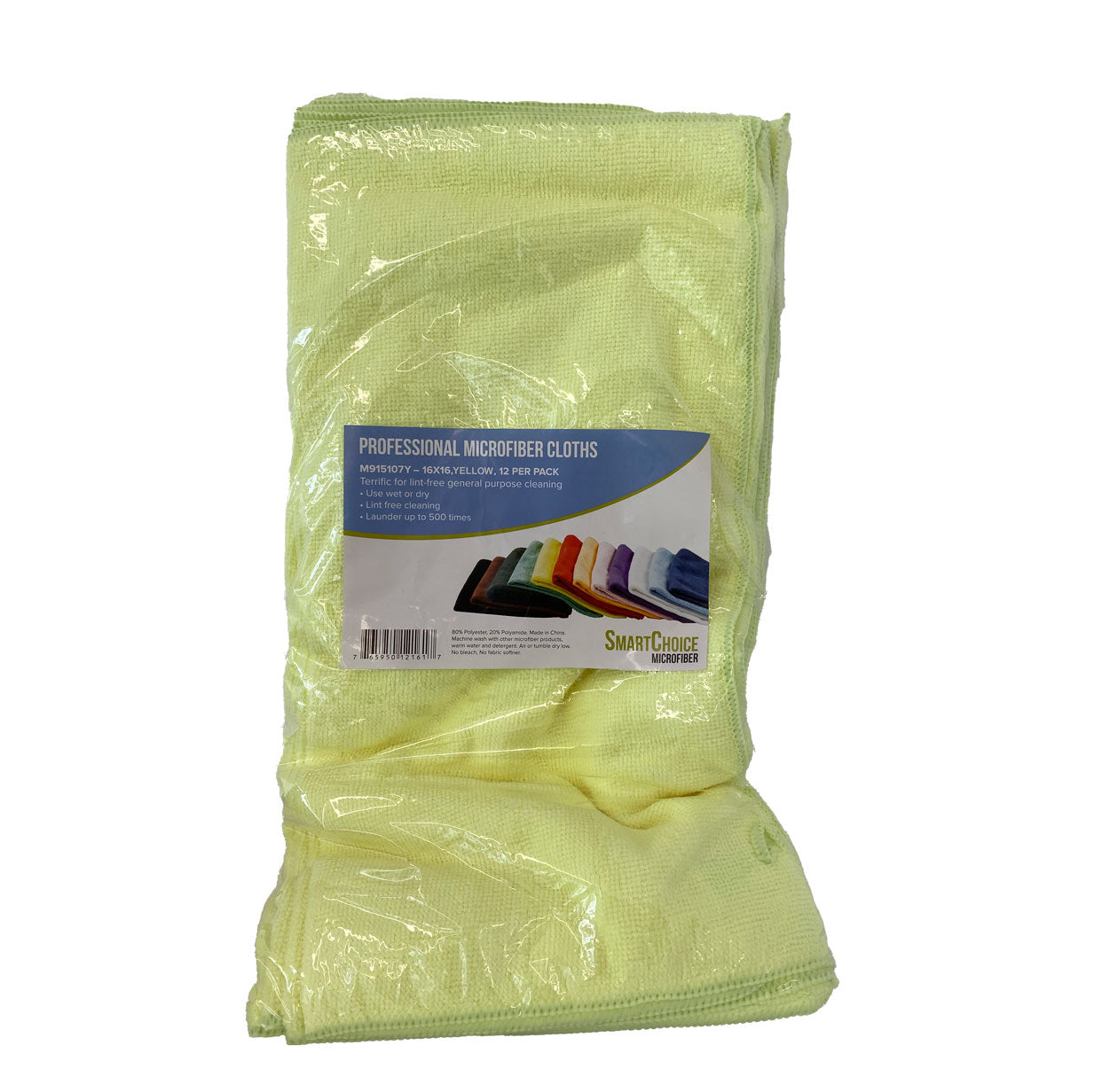 Smart Choice Microfiber Cloths - 16x16 Yellow 12/Pack