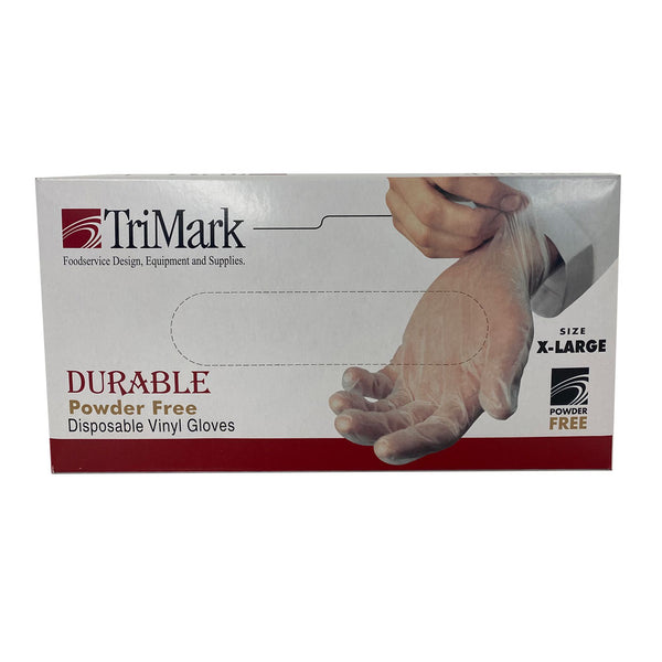 Trimark Vinyl Gloves - 100 XL Clear