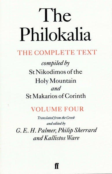 The Philokalia, Vol. 4