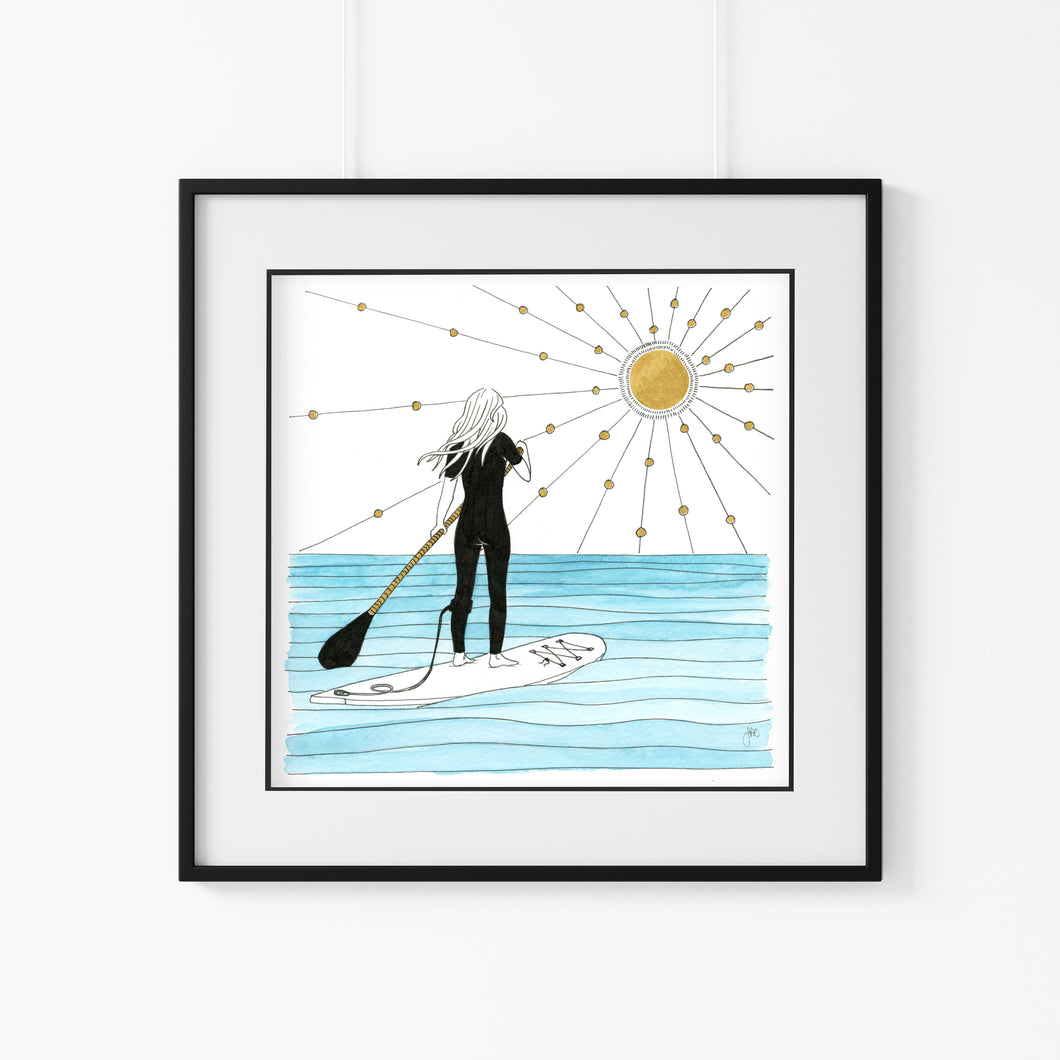 Paddle Out Giclee Art Print