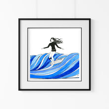 Load image into Gallery viewer, Longboard Surf Goals - Art Print Triptych