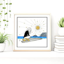 Load image into Gallery viewer, 'No Waves for Days' Giclee Art Print - Hand Finished