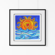 Load image into Gallery viewer, 'Sunshine Daze' Giclee Art Print - Hand Finished