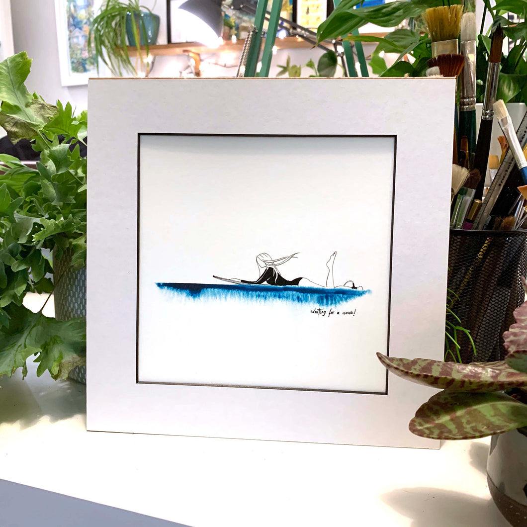 'Waiting For A Wave!' Giclee Art Print