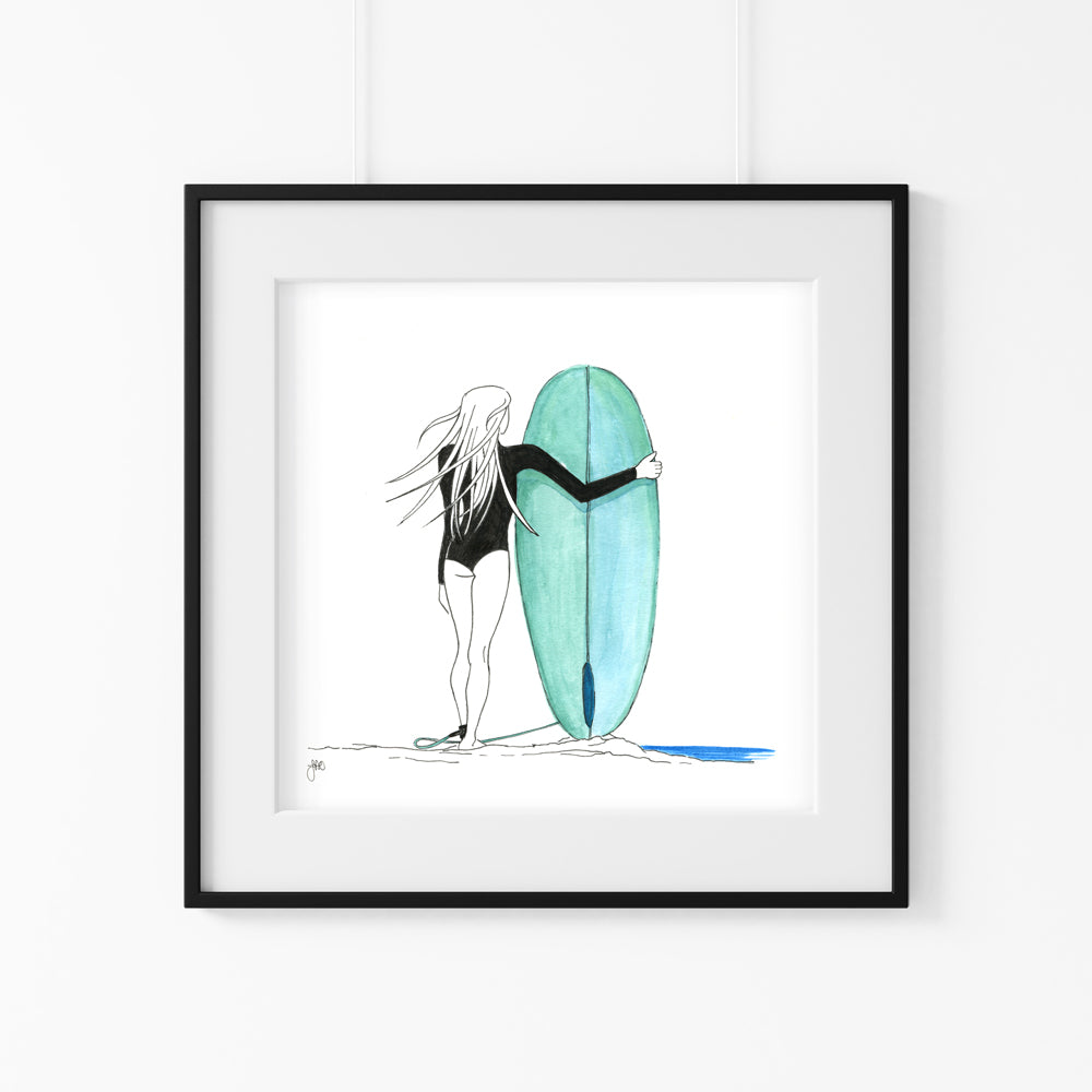'Wave Check' Giclee Art Print