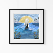 Load image into Gallery viewer, 'Wild Moon Swim' Giclee Art Print