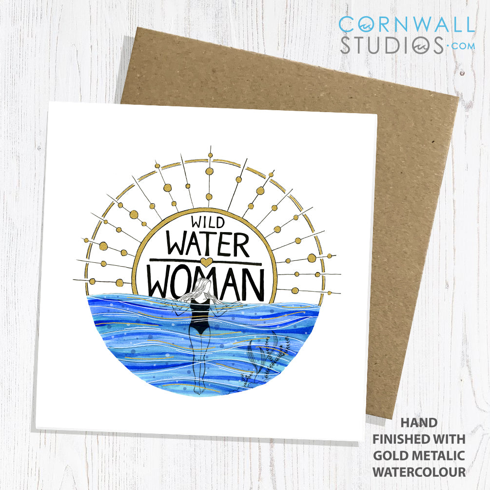 Wild Water Woman Greetings Card