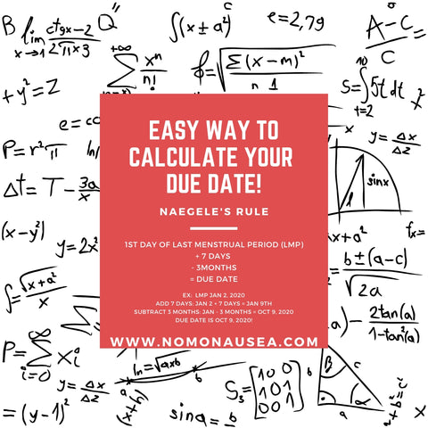 Easy way to calculate your due date
