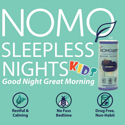 Kids sleep aid NoMo Sleepless Nights Melatonin Alternative