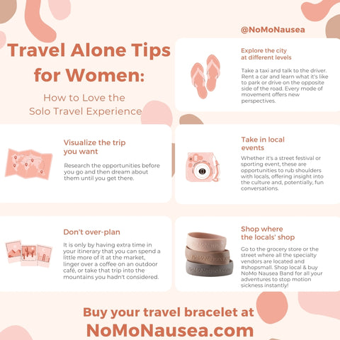 Travel Infographic for the alone traveler & Travel Tips for Solo Travel