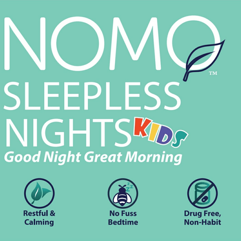 No Mo Sleepless Nights Kids| Children's Sleep Remedy Pressure Bracelet With Lavender Essential Oil Infusion and Natural Melatonin Production