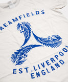Blue Liver Birds Distress Mens T-Shirt