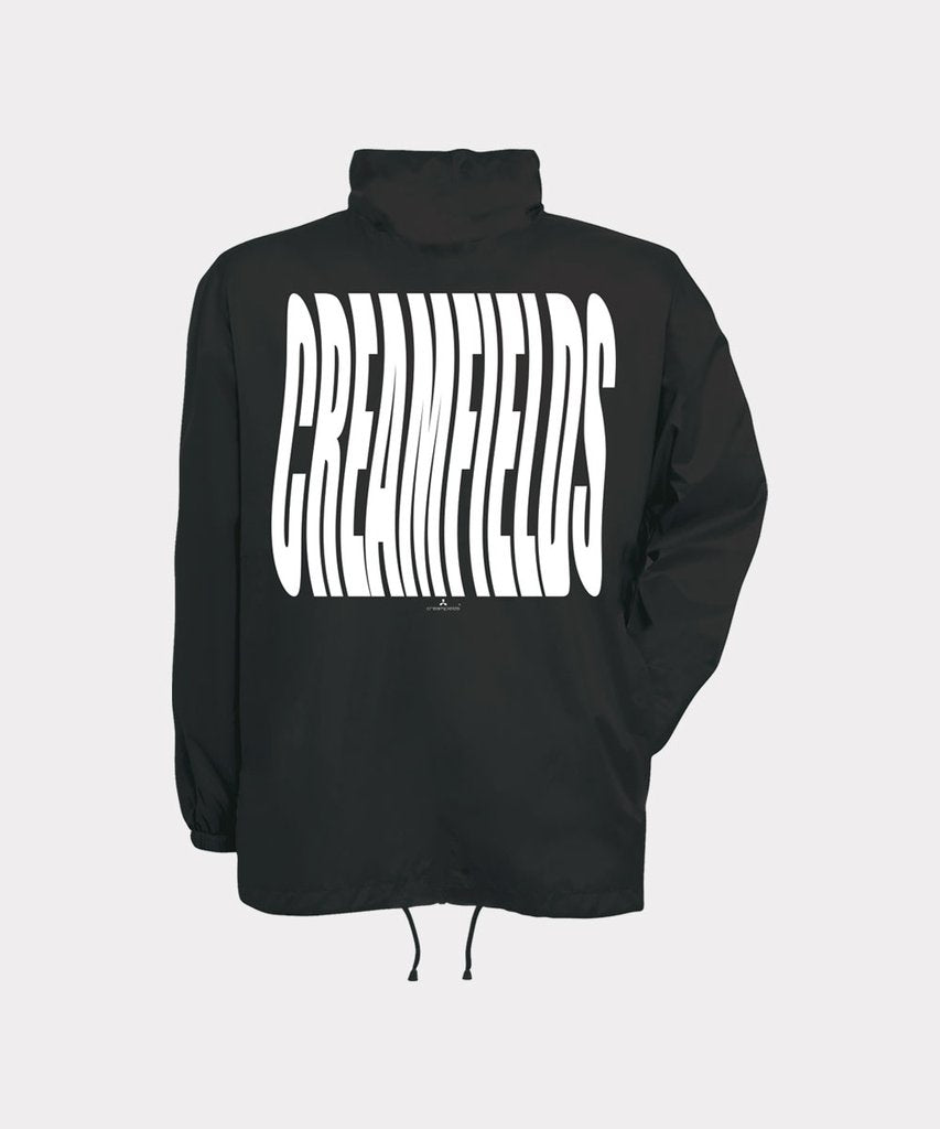 Wavefields Black Windbreaker