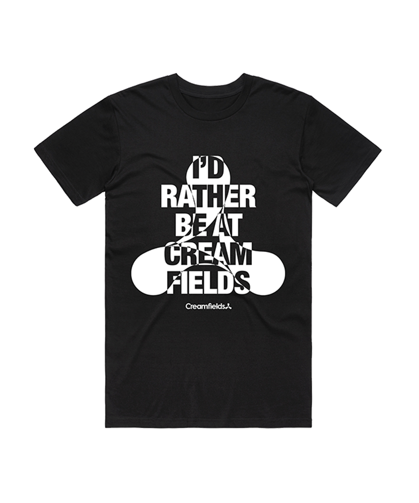 2020 I'd Rather Be Propeller Overlay Black T-Shirt