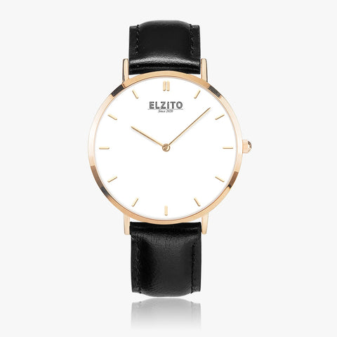 Ultrathin Leather Watch Gold