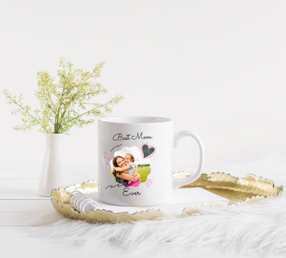 Best Mom Ever Personalized Photo Mug