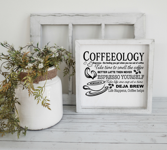 Coffeeology Wood Sign