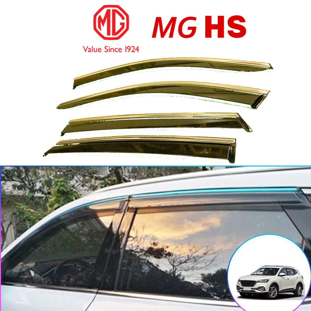 MG HS Genuine Window Deflector (SET OF 4) - Black With Logo.