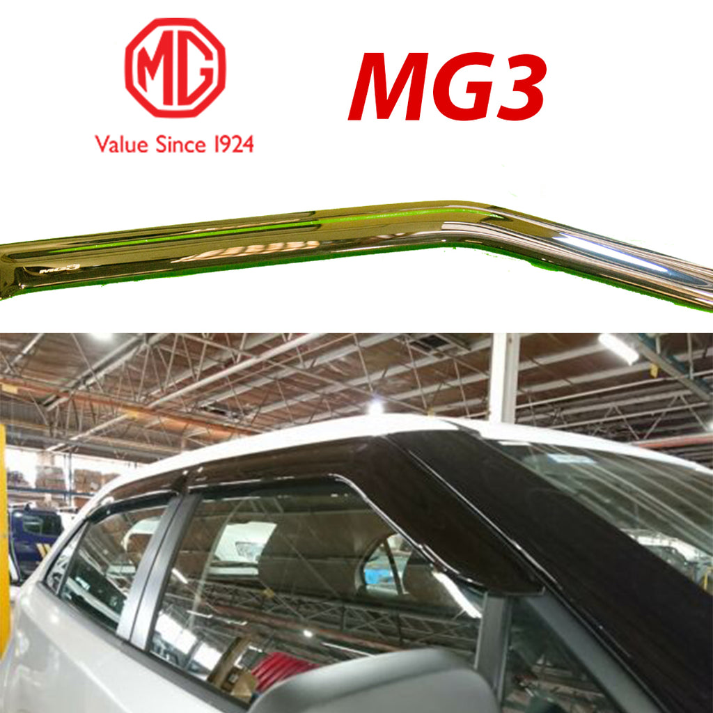 MG3 Genuine Windshield Deflector- Black With Logo.