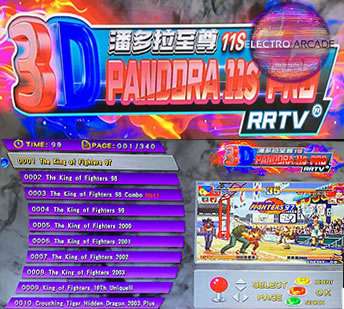 Pandora's box 11s arcade games included list