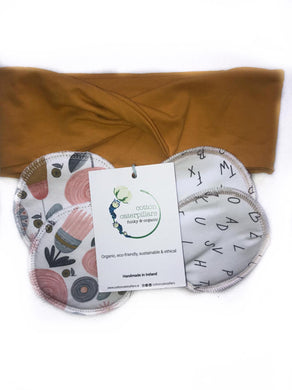 Nursing Mom Gift Set (breast pads, day and night time, headband)