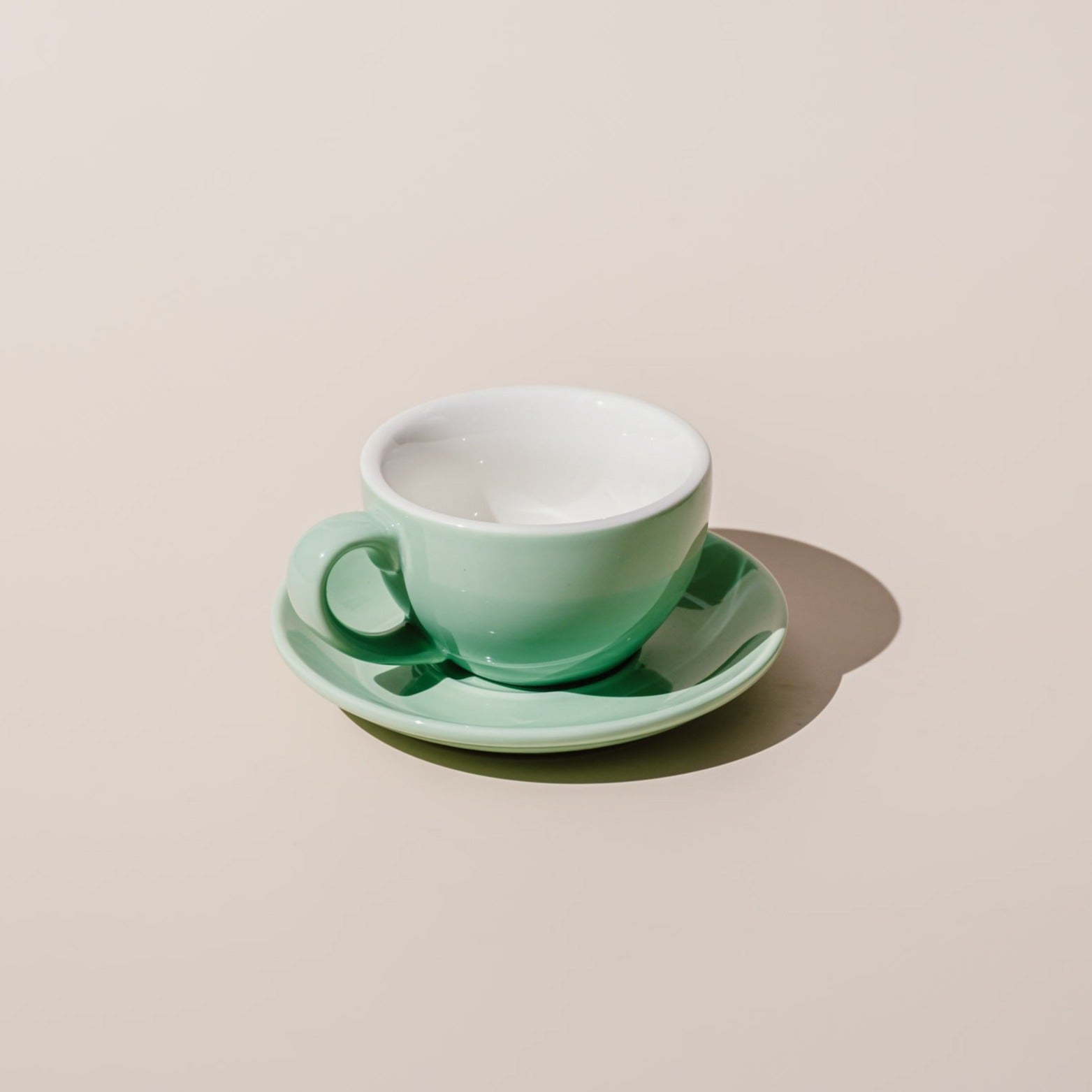 150ML Flat White Porcelain Egg Cup & Saucer