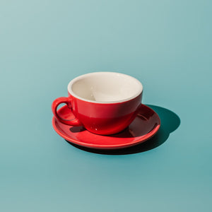 220ML Cappuccino/Cafe Latte Porcelain Egg Cup & Saucer