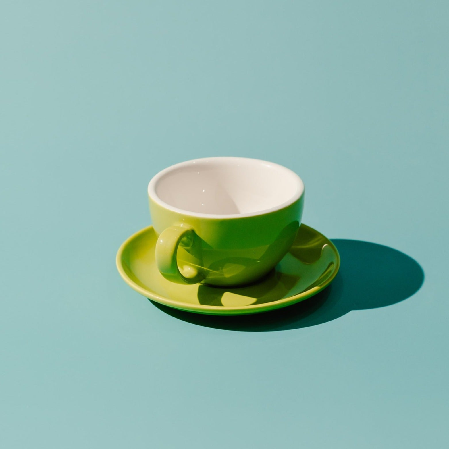 PRE-ORDER: 220ML Cappuccino Porcelain Egg Cup & Saucer (Available: Jade, Mint, Brown, Lime & Pine)