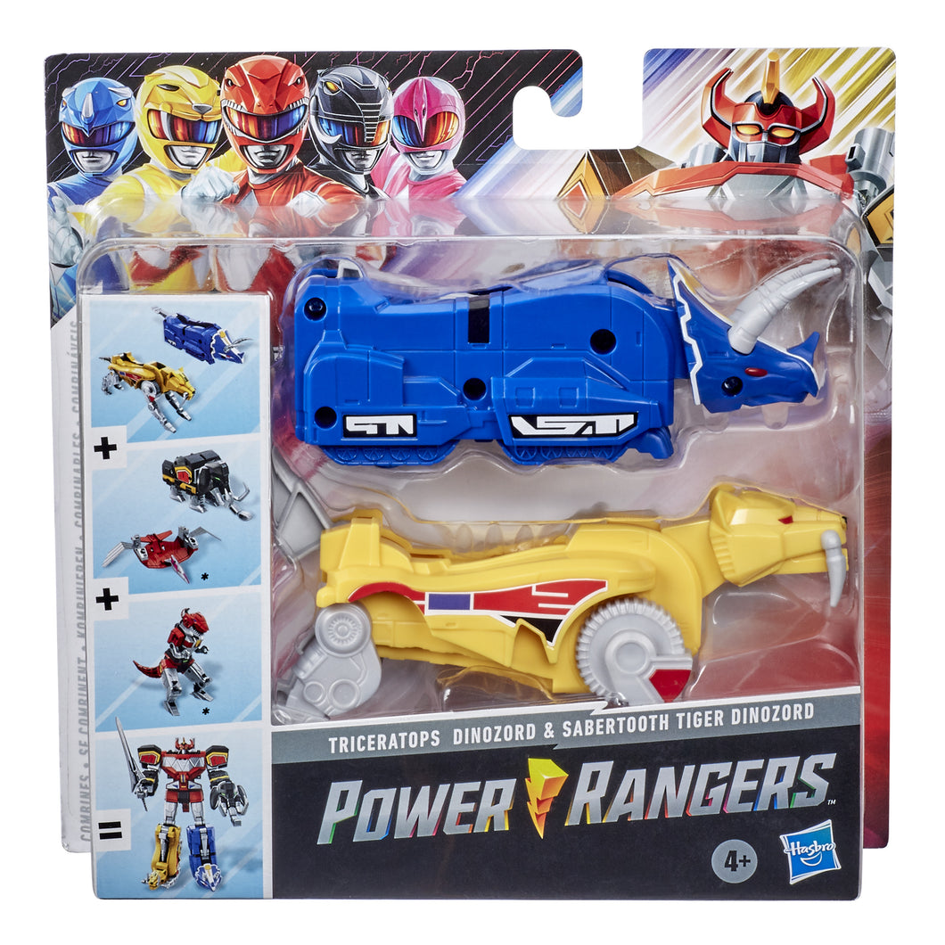 Power Rangers Mighty Morphin Triceratops and Sabertooth Tiger Dinozord