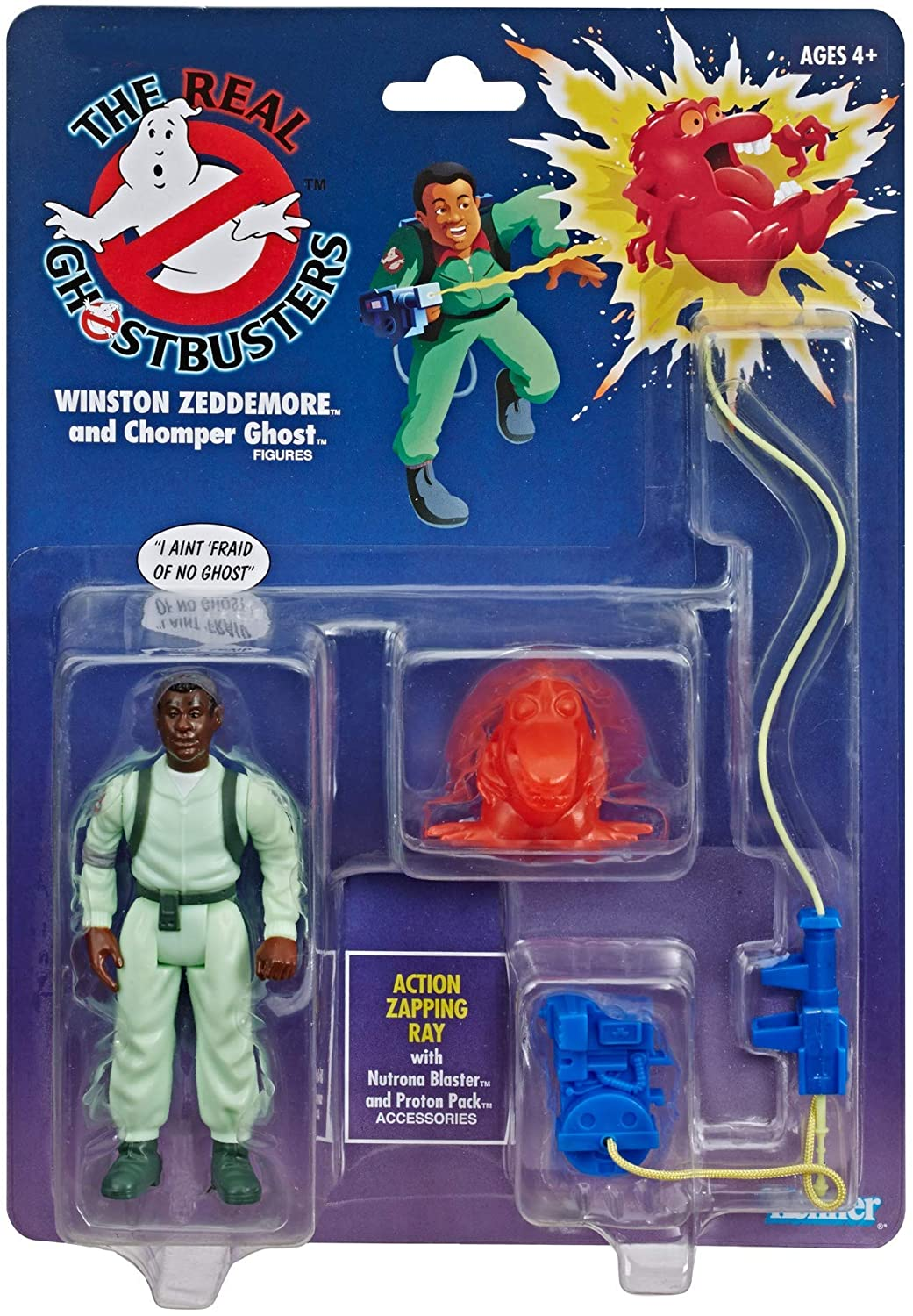 The Real Ghostbusters Kenner Classics Retro Figure - Winston Zeddemore and Chomper Ghost - Walmart Exclusive