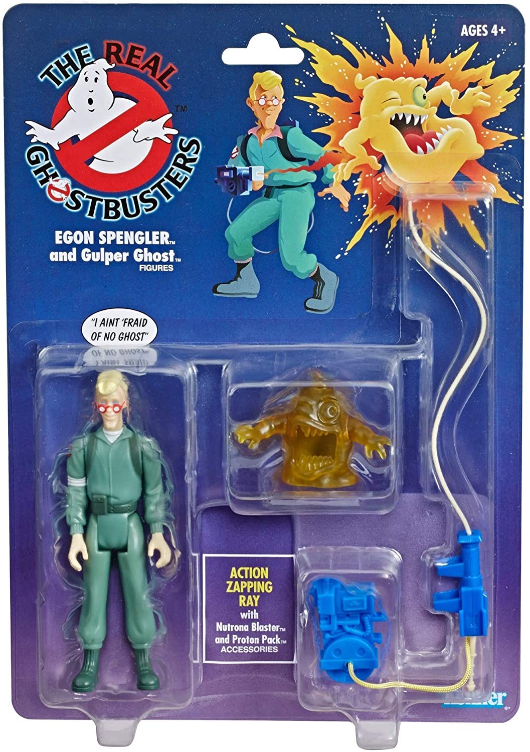 The Real Ghostbusters Kenner Classics Retro Figure - Egon Spengler and Gulper Ghost - Walmart Exclusive