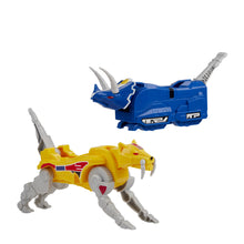 Load image into Gallery viewer, Power Rangers Mighty Morphin Triceratops and Sabertooth Tiger Dinozord