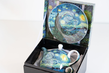 Load image into Gallery viewer, Tea for One Van Gogh Starry Night