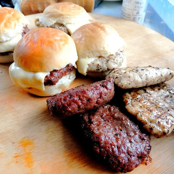 Beef Sliders / Mini-Burgers (10 sets)