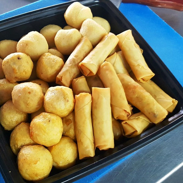 Fried Golden Platter (Squid Ball, Mini-Springrolls, Fish Balls)