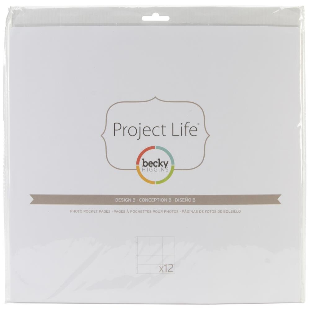 "Fundas de Project Life 12x12"" Becky Higgins 8D"