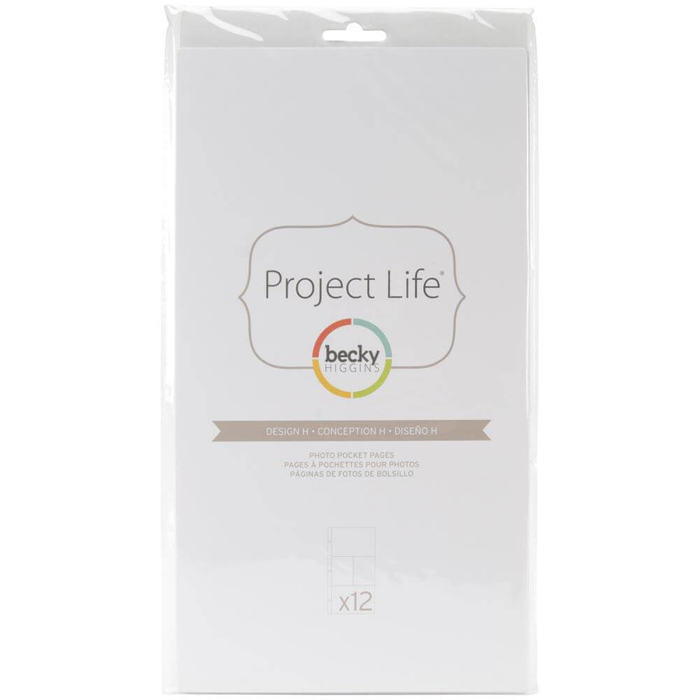"Fundas de Project Life 6x12"" Becky Higgins"