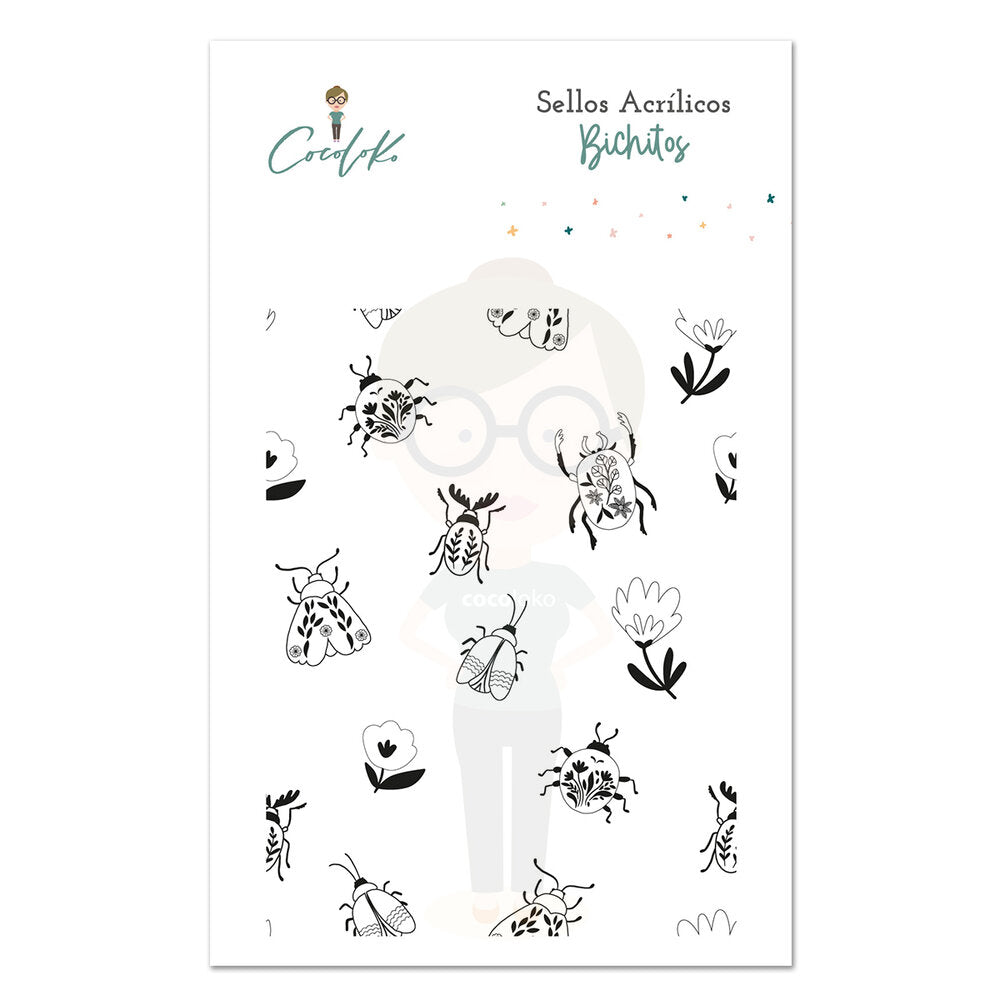 Bichitos Sellos de Scrapbooking Gaia