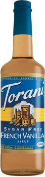 Torani Sugar Free French Vanilla Syrup 750 mL (pack of three)