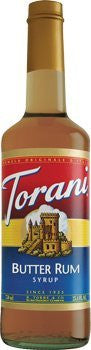 Torani Butter Rum Syrup 750 mL (pack of three)