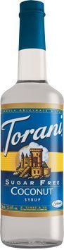 Torani Sugar Free Coconut Syrup 750 mL (pack of three)