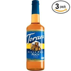 Torani Sugar Free Peach Syrup (Pack of 3)