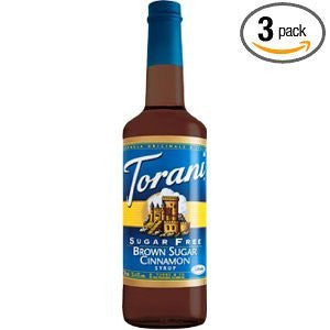Torani Syrup, Sugar Free, Brown Sugar Cinnamon, 750-ML (Pack of 3)